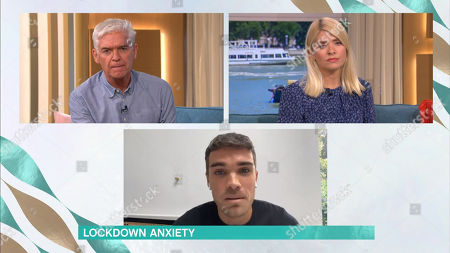 Stock Picture of Phillip Schofield, Holly Willoughby, Josh Cuthbert