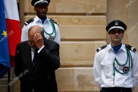 New Justice Minister Eric Dupond-Moretti attends a handover ceremony with outgoing Justice Minister Nicole Belloubet (unseen) at the Ministry of Justice in Paris, France, 07 July 2020. Lawyer Dupond-Moretti has been appointed as the new Justice Minister after the government of Edouard Philippe had resigned on 03 July 2020, prompting a government and cabinet reshuffle.