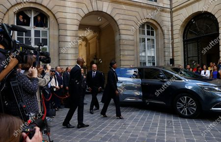 New Justice Minister Eric Dupond-Moretti (C) arrives for a handover ceremony with outgoing Justice Minister Nicole Belloubet (unseen) at the Ministry of Justice in Paris, France, 07 July 2020. Lawyer Dupond-Moretti has been appointed as the new Justice Minister after the government of Edouard Philippe had resigned on 03 July 2020, prompting a government and cabinet reshuffle.