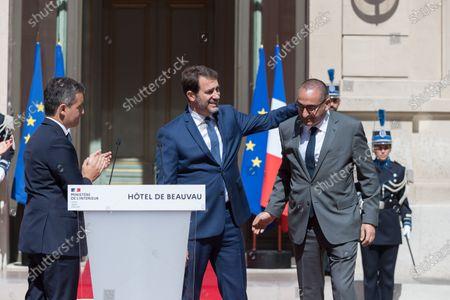 Gerald Darmanin, Christophe Castaner and Laurent Nunez.