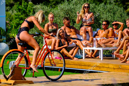 Stock Photo of Cassidy McGill takes to the Truth Bike