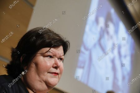 Minister of Health, Social Affairs, Asylum Policy and Migration Maggie De Block pictured during a press conference concerning the federal budget that is opened for the federal care sector, in Brussels, Tuesday 07 July 2020.