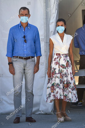 Spanish Royals visit an agricultural cooperative, Cieza