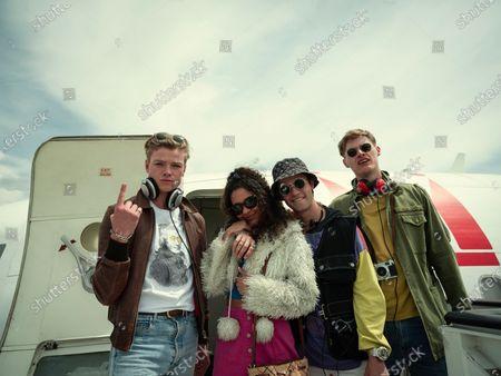 Tom Rhys Harries as Axel Collins and Jade Alleyne as Tanit Ward