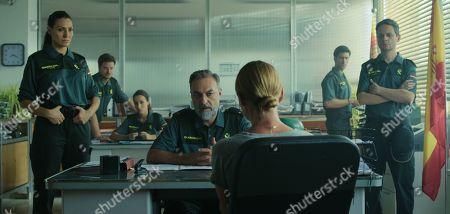 Juan Carlos Vellido as Lieutenant Gonzalez and Laura Haddock as Zoe Walker