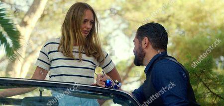 Laura Haddock as Zoe Walker and Nuno Lopes as Boxer