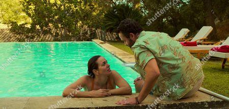 Laura Haddock as Zoe Walker and Daniel Mays as Marcus