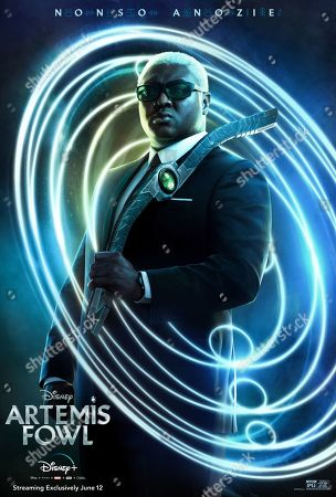 Stock Photo of Artemis Fowl (2020) Poster Art. Nonso Anozie as Domovoi Butler