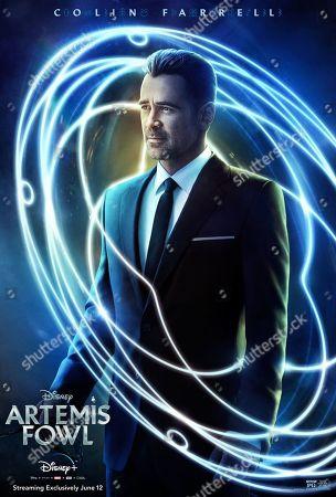 Artemis Fowl (2020) Poster Art. Colin Farrell as Artemis Fowl Senior.