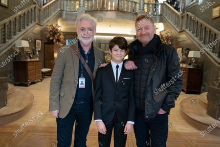 Stock Image of Eoin Colfer Book Author, Ferdia Shaw as Artemis Fowl and Kenneth Branagh Director