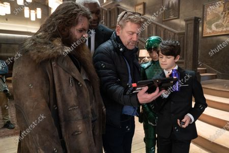 Josh Gad as Mulch Diggums, Nonso Anozie as Domovoi Butler, Kenneth Branagh Director, Lara McDonnell as Holly Short and Ferdia Shaw as Artemis Fowl