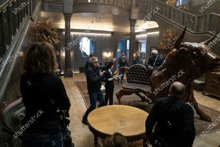 Kenneth Branagh Director, Ferdia Shaw as Artemis Fowl and Nonso Anozie as Domovoi Butler
