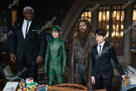 Nonso Anozie as Domovoi Butler, Lara McDonnell as Holly Short, Josh Gad as Mulch Diggums and Ferdia Shaw as Artemis Fowl