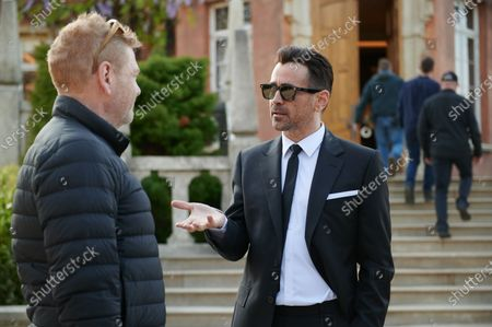 Kenneth Branagh Director and Colin Farrell as Artemis Fowl Senior