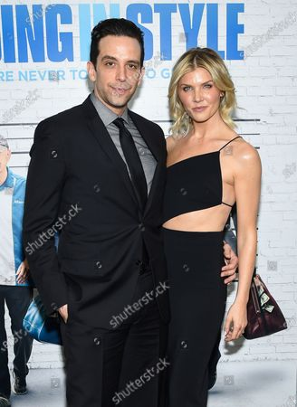 """Nick Cordero and Amanda Kloots attend the world premiere of """"Going in Style"""" at the SVA Theatre, in New York"""
