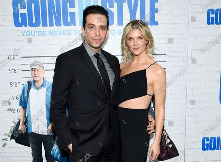 """Actors Nick Cordero and Amanda Kloots attend the world premiere of """"Going in Style"""" at the SVA Theatre, in New York"""