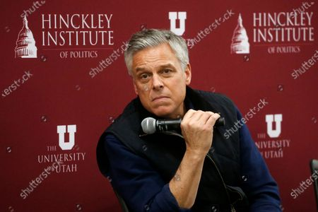 Republican Utah gubernatorial candidate and former ambassador Jon Huntsman Jr. looks on during a debate on May 20, 2020, in Salt Lake City. Huntsman was an enormously popular governor, scion of a prominent family and ambassador under two presidents to America's biggest global rivals, so he should be a political force to be reckoned with. But his comeback attempt came fell short in a GOP primary as he contended with a crushing pandemic and a fresh-faced opponent. He was narrowly beaten by Lt. Gov. Spencer Cox