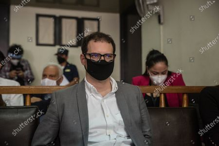 The brothers Luis Enrique and Ricardo Alberto Martinelli Linares (not pictured), children of the former Panamanian President Ricardo Martinelli, attend a hearing in a court in Guatemala City, Guatemala, 07 July 2020. The two brothers, of Italian and Panamanian nationality, are accused of 'conspiracy to commit money laundering involving specific activity according to the United States code'.