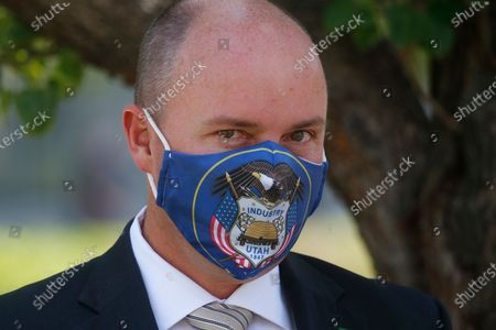 Stock Photo of Lt. Gov Spencer Cox arrives for a press conference at the Utah State Capitol, in Salt Lake City. Jon Huntsman Jr. was narrowly beaten Monday, July 6, 2020, by Cox, who had heightened visibility as he helped respond to the coronavirus and managed to pitch himself as an earnest politician with rural Utah roots