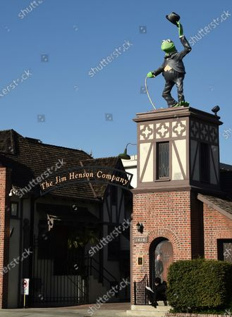 Statue of Kermit The Frog stands at the entrance to The Jim Henson Company, in the Hollywood section of Los Angeles. The U.S. government's small business lending program sent pandemic relief money into unexpected corners of the entertainment industry. The Muppet makers say they received about $2 million to keep their 75 workers employed through the coronavirus shutdown