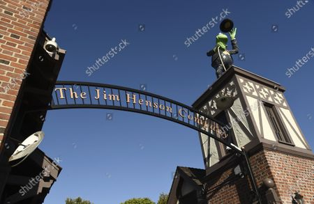 The front gate of the Jim Henson Company is pictured, in the Hollywood section of Los Angeles