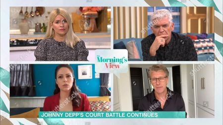 Holly Willoughby, Phillip Schofield, Nicola Thorp and Andrew Castle