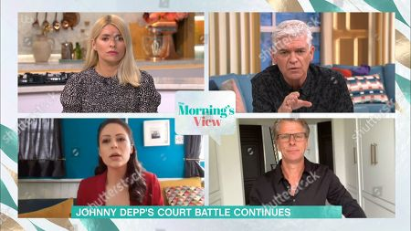Stock Picture of Holly Willoughby, Phillip Schofield, Nicola Thorp and Andrew Castle