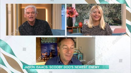Phillip Schofield, Holly Willoughby and Jason Isaacs