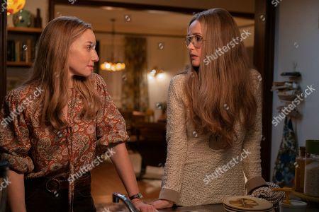 Ari Graynor as Brenda Feigen-Fasteau and Rose Byrne as Gloria Steinem