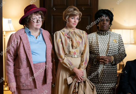 Margo Martindale as Bella Abzug, Elizabeth Banks as Jill Ruckelshaus and Uzo Aduba as Shirley Chisholm