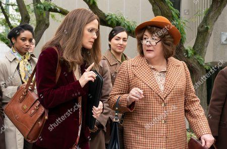 Rose Byrne as Gloria Steinem and Margo Martindale as Bella Abzug