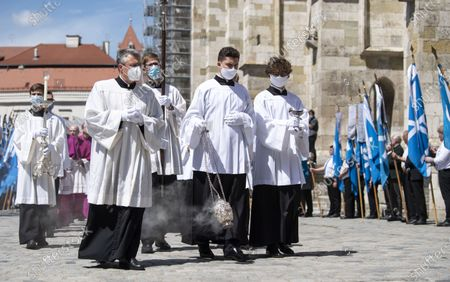 Incense is waved after a requiem for the deceased cleric Georg Ratzinger in Regensburg, Germany, 08 July 2020. Ratzinger, brother of Pope Emeritus Benedict XVI, has died aged 96 in Regensburg on 01 July 2020.