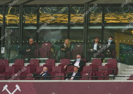 West Ham co owners David Gold and David Sullivan look on