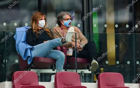 West Ham vice chair Karren Brady and her husband Paul Peschisolido
