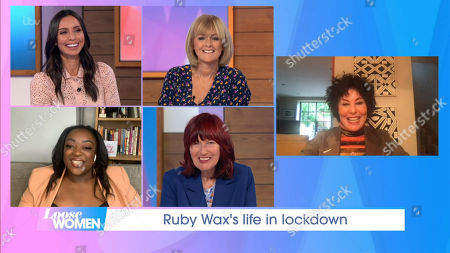 Stock Picture of Christine Lampard, Jane Moore, Judi Love, Janet Street-Porter and Ruby Wax