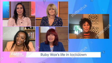 Stock Image of Christine Lampard, Jane Moore, Judi Love, Janet Street-Porter and Ruby Wax