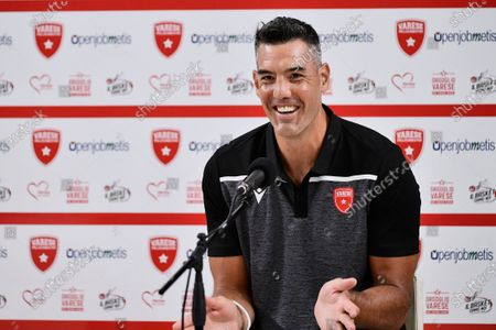 Stock Picture of Argentine, Luis Scola of Pallacanestro Varese during a Press Conference in his new Italian Legabasket Serie A team at Enerxenia Arena. Luis Scola after Olimpia Milano chooses Varese basketball to play the last season before his fifth Olympics Games.