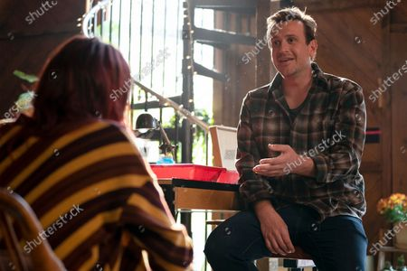 Stock Image of Eve Lindley as Simone and Jason Segel as Peter