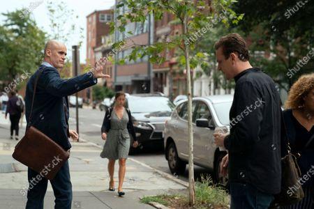 Sean Patrick Folster as Tall Hooded Baldman and Jason Segel as Peter
