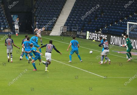Dara O'Shea of West Bromwich Albion scores a goal to make it 2-0