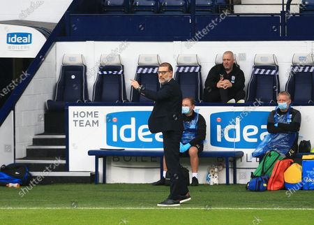 West Bromwich Albion manager Slaven Bilic issues instructions