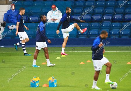Matheus Pereira of West Bromwich Albion warms up ahead of the game