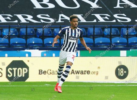Grady Diangana of West Bromwich Albion celebrates scoring the opening goal