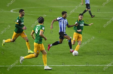 Jacob Murphy of Sheffield Wednesday makes a good run before scoring his side's first goal