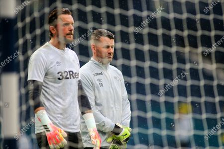 Stock Picture of Ben Hamer of Derby County (12) and Shay Given during the EFL Sky Bet Championship match between West Bromwich Albion and Derby County at The Hawthorns, West Bromwich