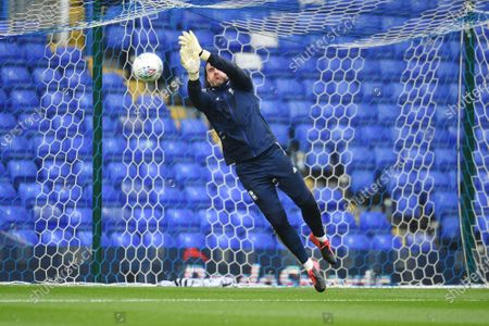 Goal Keeper Lee Camp of Birmingham City warms up.