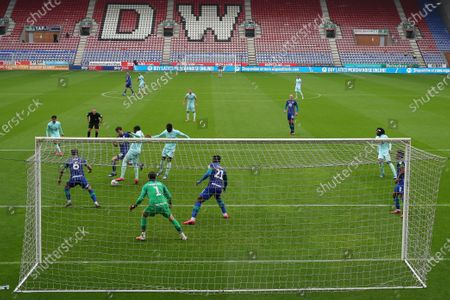 A general view of the match at the DW stadium between Wigan Athletic and QPR