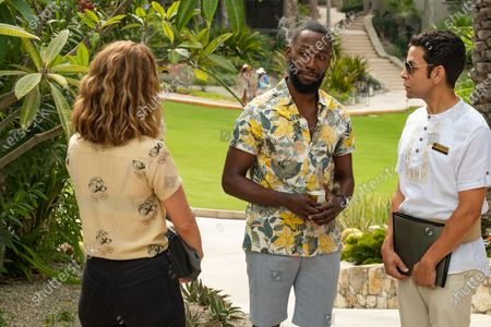 Stock Picture of Nasim Pedrad as Wesley, Lamorne Morris as Sean and Izzy Diaz as Quintano