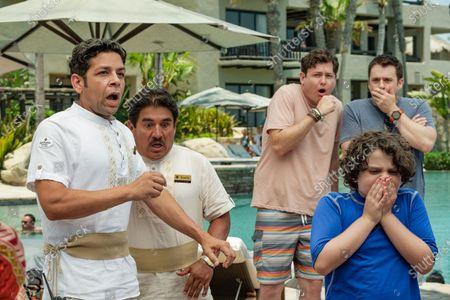 Izzy Diaz as Quintano, Rodrigo Franco as Ramon and Toby Grey as Nolan