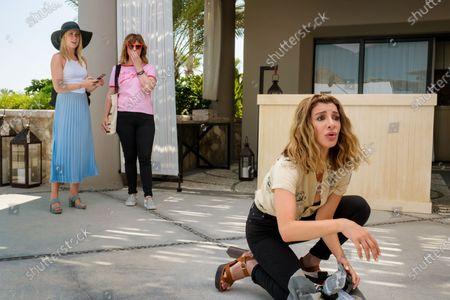 Anna Camp as Brooke, Sarah Burns as Kaylie and Nasim Pedrad as Wesley